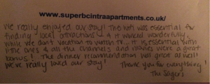 Testimonial - Superb Cintra Apartments Llandudno