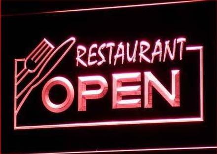 OPEN Restaurant Display sign