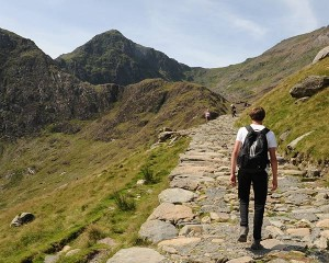 Walking up Snowdon Miners Track