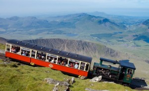 Walking up Snowdon Railway